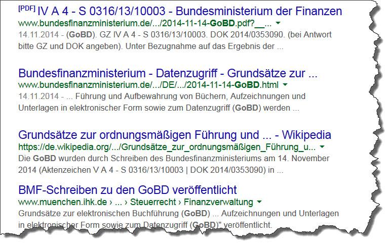 BMF Schreiben GoBD 14.11.2014
