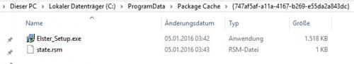 Lexware Elster Update Deinstallation, um Lisa für Aktualisierungen frei zu machen