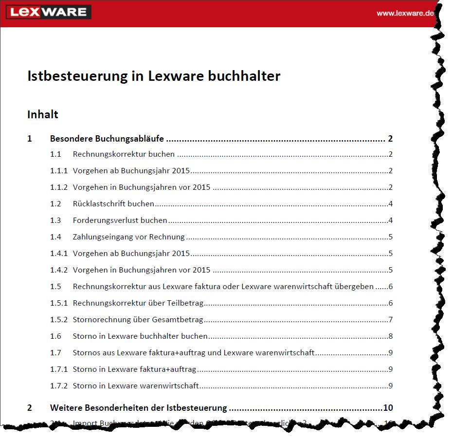 Lexware Buchhalter 2016 Istbesteuerung Vor 2015 Und Ab 20152018