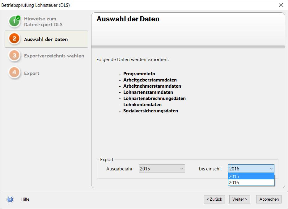 Lexware Lexware Betriebsprueferexport DLS für das örtliche Finanzamt