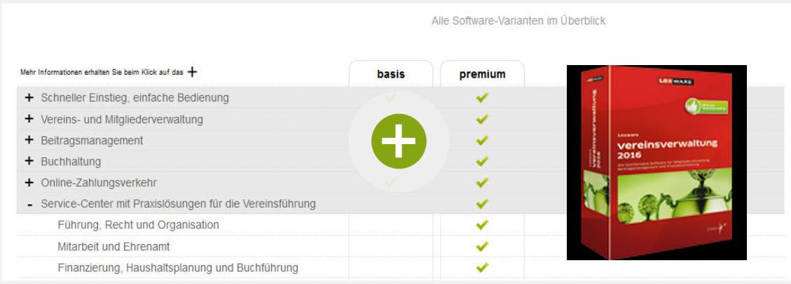 Lexware Vereinsverwaltung Standard und Premium