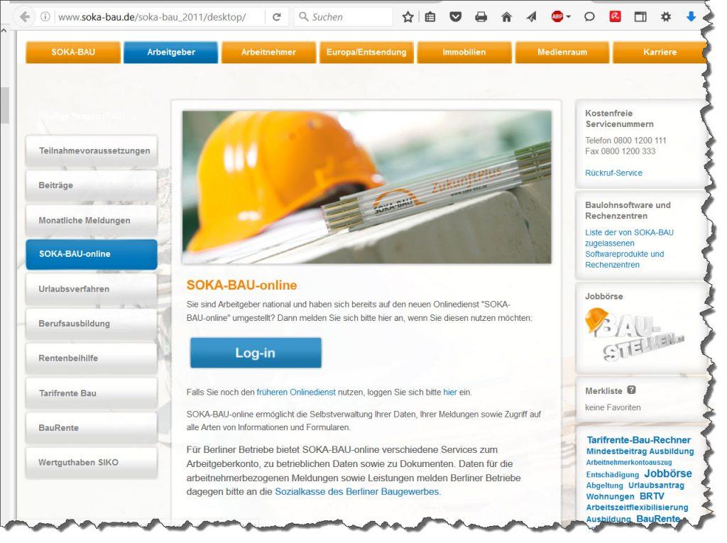Lexware Baulohnabrechnung mit Sokabauportal