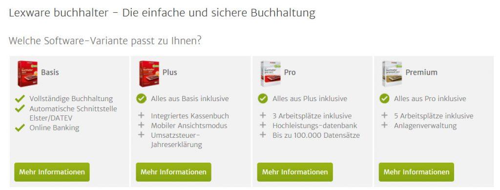 Lexware Buchhalter 2017 Versionsarten im Ueberblick