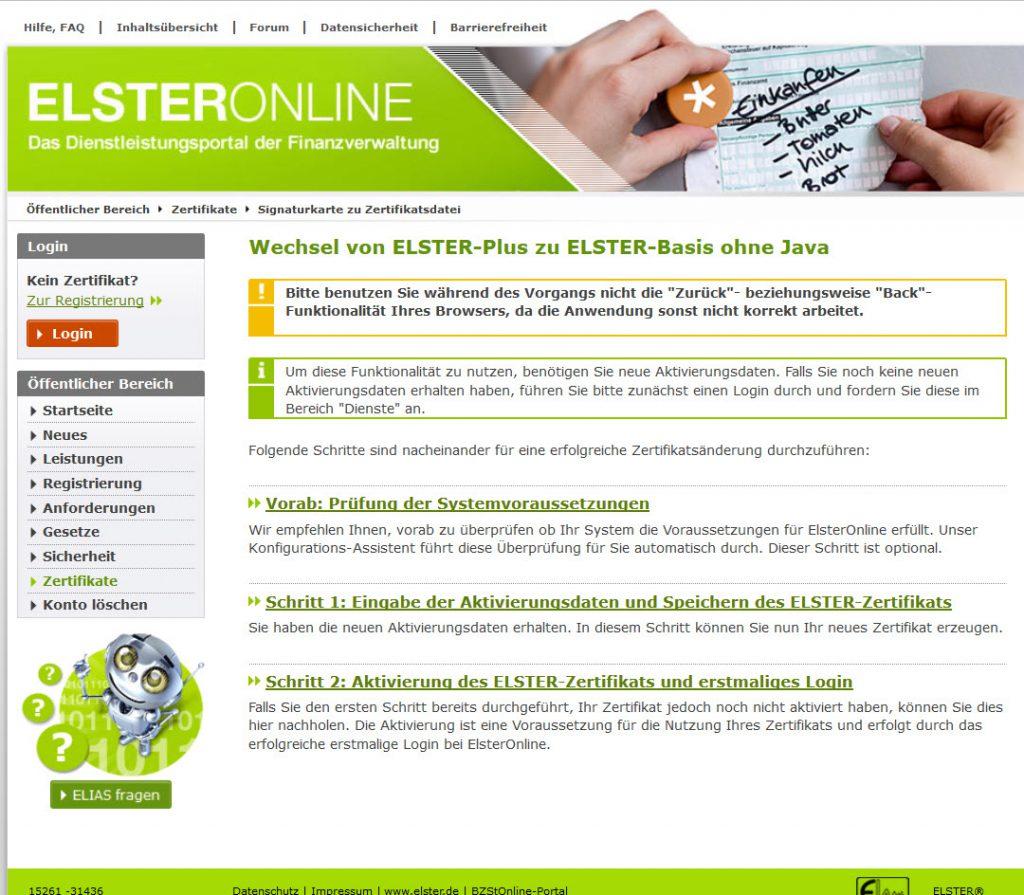 Lexware-elster-registrierung-zertifikatsdatei-bayrische-finanzverwaltung