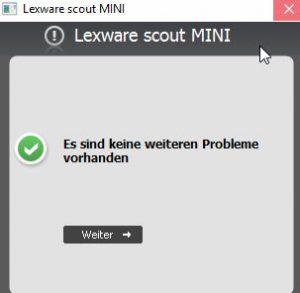 Lexware® Lohn Scout keine Probleme mehr vorhanden