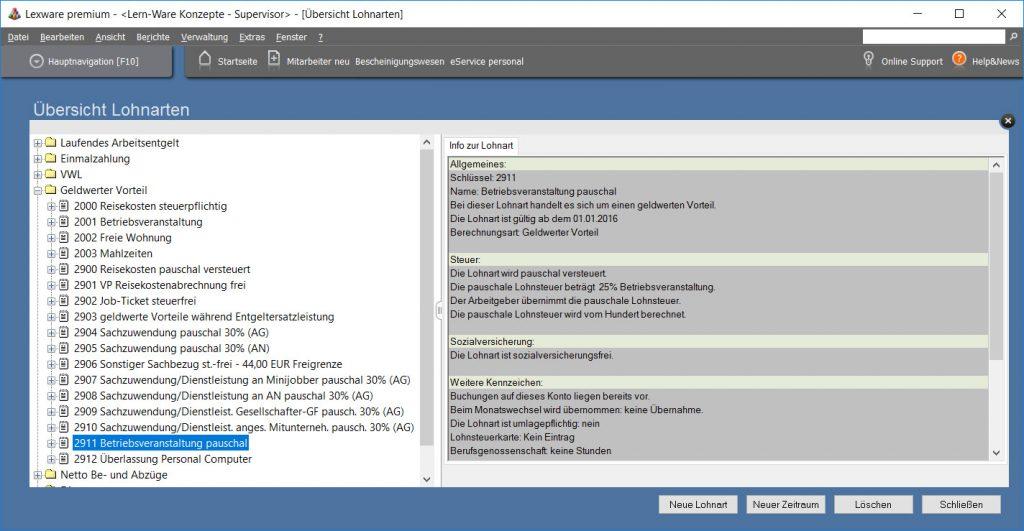 Lexware-lohnart-betriebsveranstaltung-pauschal-besteuert-sozialabgabenfrei