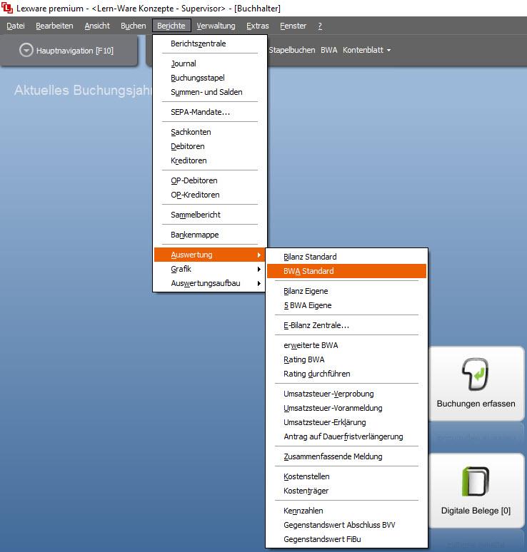 Lexware Buchhalter Basis Plus Pro Und Premium Bwa Ist