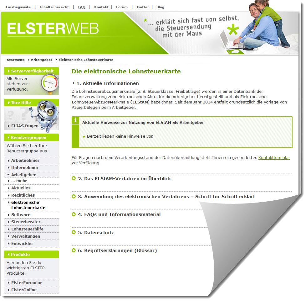 Lexware Lohn Elstam Verfahrenshinweis Mit Kennung 551005007 Für