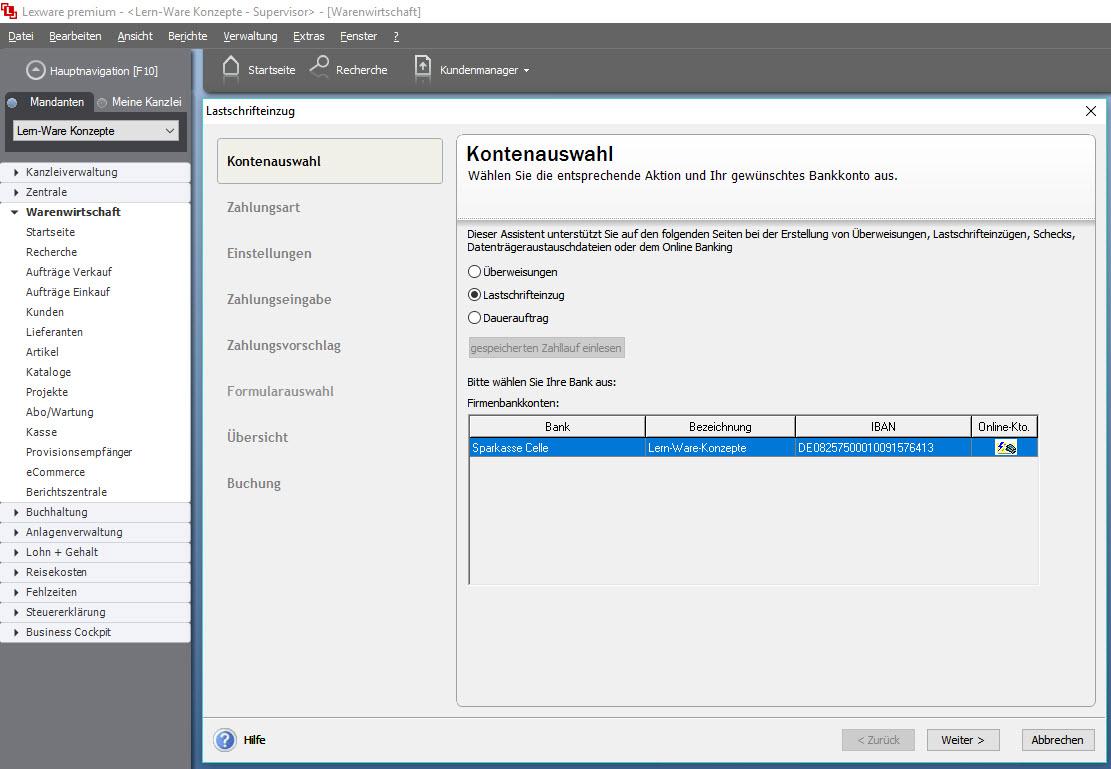 Lexware Buchhalter und Warenwirtschaft Pro: SEPA Überweisungen ...