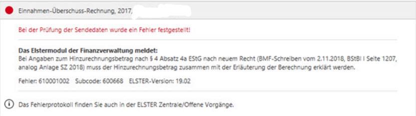 71f5d377fea0f7 Lexware EÜR Anlage SZE 2017 mit Extra-Einstellung fuer Anlage SZE  Eintragungsfehler