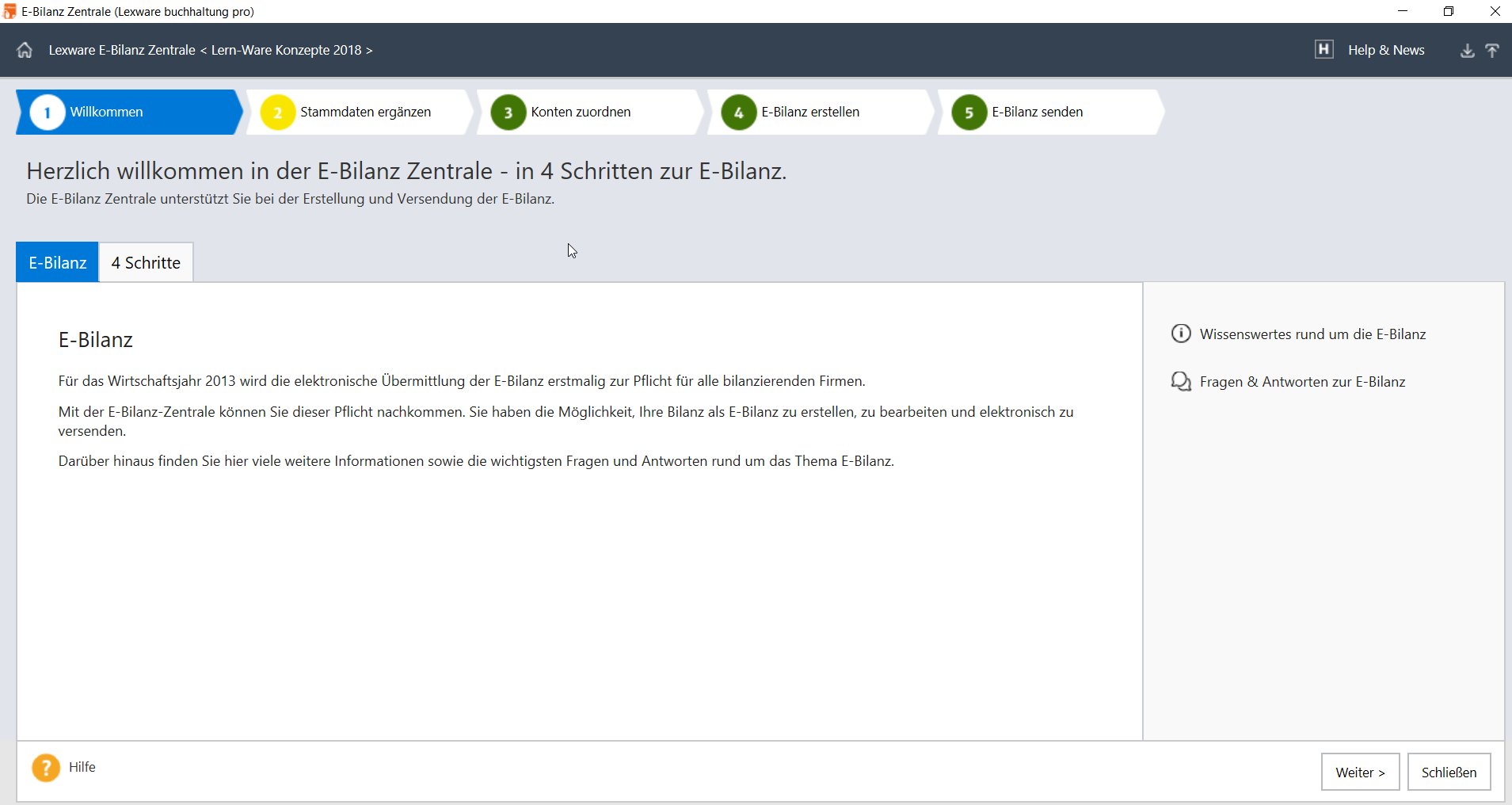 Lern-Ware Lexware Anleitung E-Bilanzerstellung
