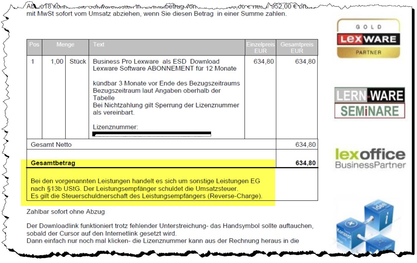Lexware Faktura Und Warenwirtschaft Steuerfreie Aufträge Innerhalb