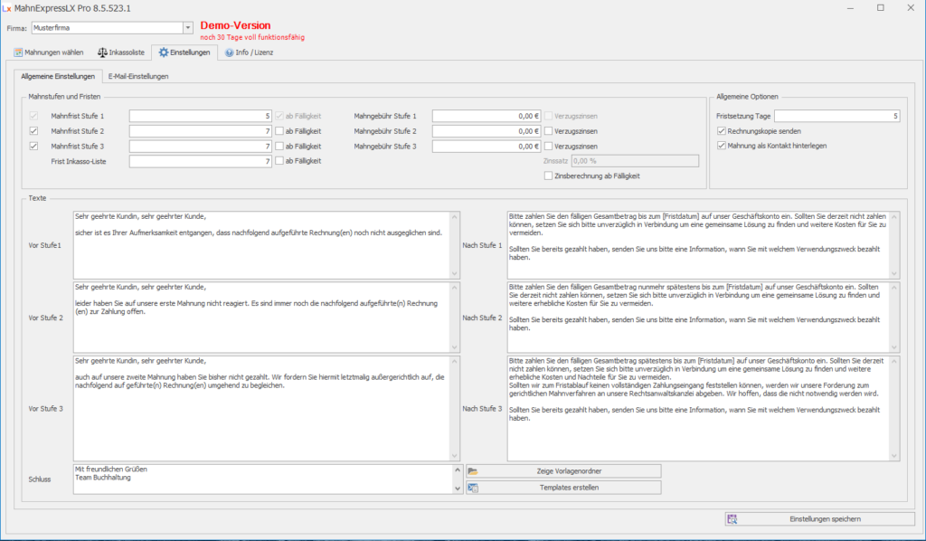 Lexware Zusatztools Buchhaltung Pro Und Premium Mahnungen Per Mail
