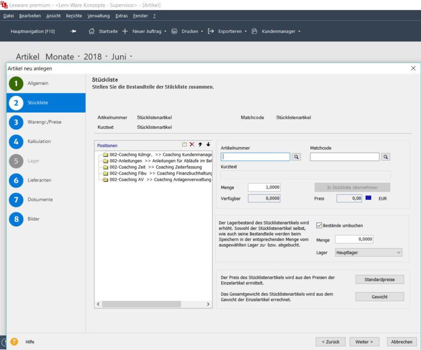 Lexware Warenwirtschaft Zusatz Tools Automatische Umbuchung Von Stcklistengesamtartikeln Als Einzelartikel Vom Jeweiligen Lager