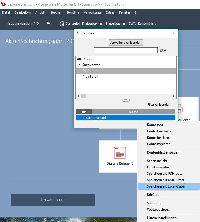 Lexware Debitorenkonten Mit Excel Exportieren Um In Faktura Oder