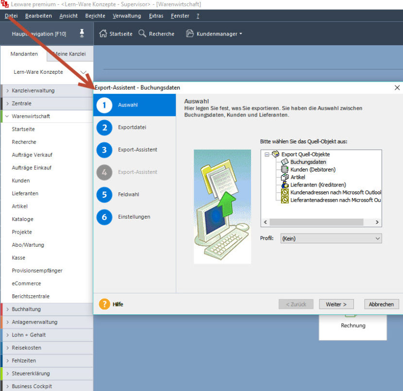 Lexware Daten An Excel Oder Word übergeben Archive Lern Ware
