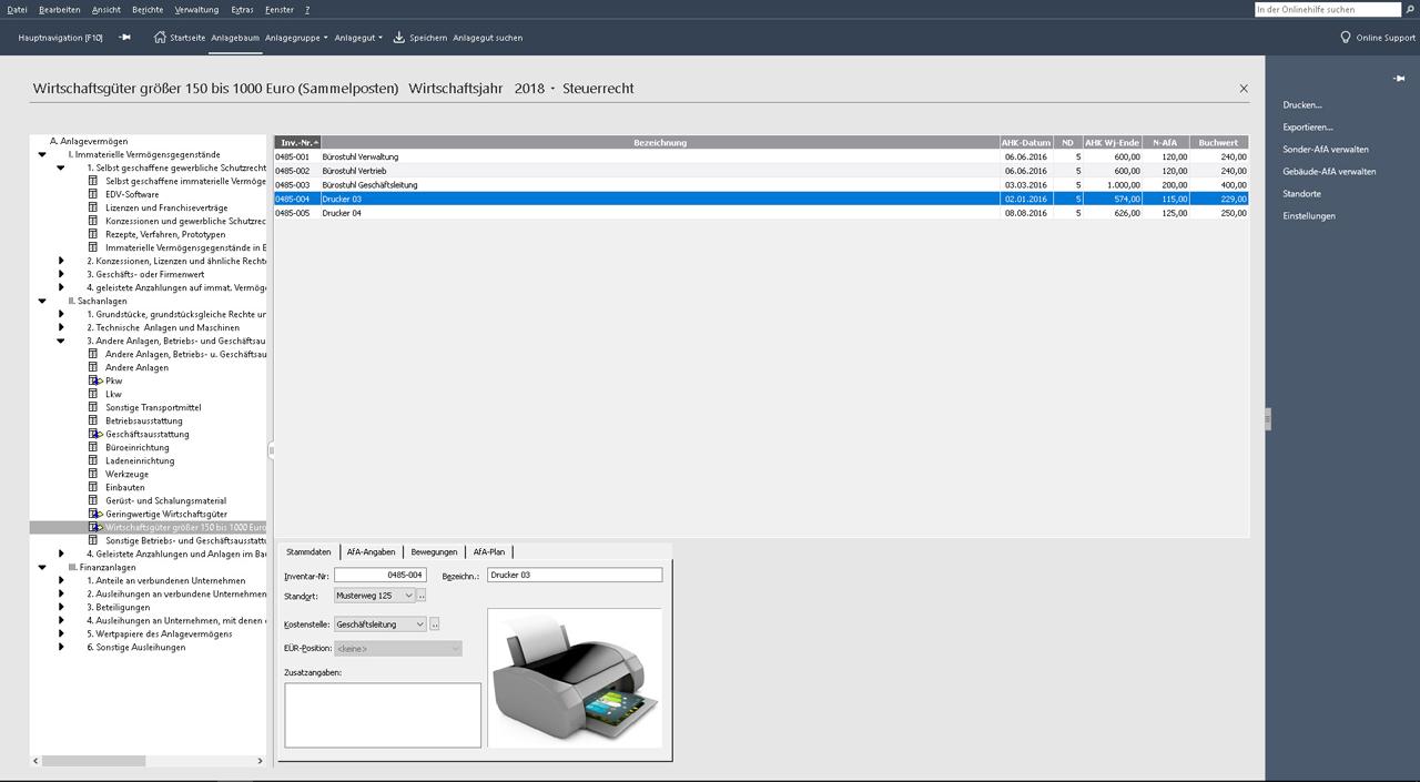 Lexware Anlagenverwaltung 2019: Software 2019 mit neuen