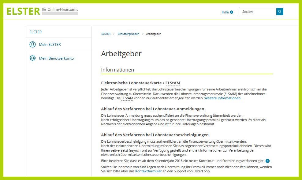 Lern-Ware Rechtsquelle Arbeitgeberportal der Finanzverwaltung fuer Lohnsteuerbelange mit Lexware Software