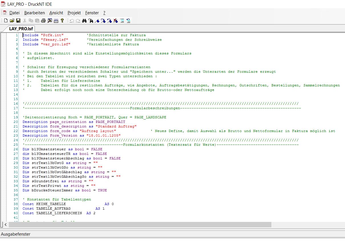 Lern-Ware Lexware® Formularprogrammierung Editor